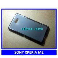 Silikon Case Sony Xperia M2 / M2 Dual SIM Hitam Transparant