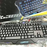 [AUDI] K300 Profesional Keyboard Gaming Dengan 3 Warna Backlight