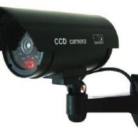 CCTV dummy palsu HITAM lengkap dengan kabel, tenaga baterai