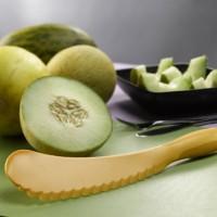 pemotong melon plus biji Slicer pengupas kulit semangka pisau plastik