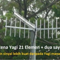 Antena Penguat Sinyal Yagi 21 Element 15m Induksi Modem Mifi Hp 3g 4g