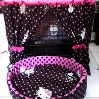harga 1set Tirai Kandang Kucing/anjing Uk75(sedang)+kasur Bantal Tokopedia.com