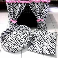 harga 1 Set Tirai Kandang Anjing/kucing Uk60+kasur Bantal+matras Tokopedia.com