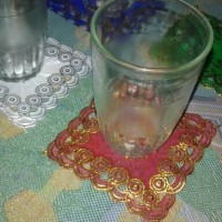 souvenir pernikahan tatakan gelas bungkus plastik