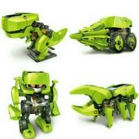 Jual Mainan Edukasi Robot Tenaga Surya-4 in 1 Transforming Solar Robot Murah
