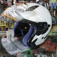 Helm INK Metro 2 Double Visor Putih