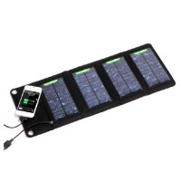 Jual Foldable Solar Power Bank 7W with 4 Solar Panel - S07 / Tenaga Surya Murah