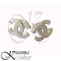 Anting Earrings Silver - Perak Bali Tusuk Channel Chanel Asli 925