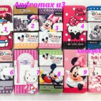 Wallet disney andromax u3 / case karakter smartfren andromax u3