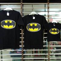 Jual baju kaos pasangan keluarga couple family anak mama papa motif batman Murah