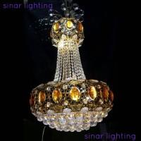 harga Lampu gantung hias crystal 2027/50 remote Tokopedia.com