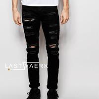 Extream Rip Super Skinny Jeans In Black