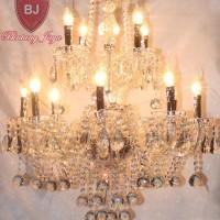 Jual Lampu Kristal Bakso Lilin 12 - Silver [Free Bohlam LED] Murah