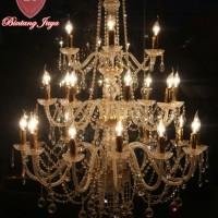 harga Lampu Kristal Bakso Lilin 24 - Gold [free Bohlam Led] Tokopedia.com