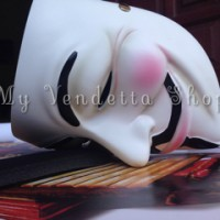 Topeng V for Vendetta Original Resin Mask (Anonymous / Guy Fawkes) *LIMITED EDITION