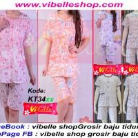 KT34xx - Vibelle shop grosir baju tidur kancing katun piyama baby doll