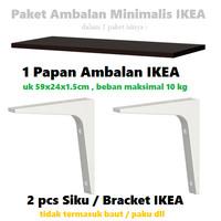 RAK BUKU / RAK DINDING MINIMALIS / PAKET RAK + BRAKET