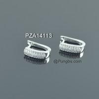 Anting putih zirconia PZA14113