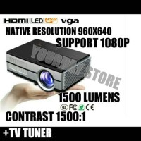 Proyektor Mini Led Projector Portable 1500 Lumens Hd Ready
