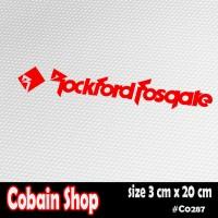 Sticker Rockford Fosgate
