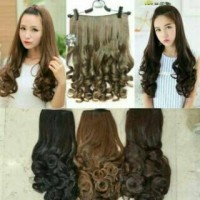 HAIR CLIP BIG LAYER CURLY SOSIS / KERITING