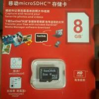 MEMORY CARD MMC MICRO SD SANDISK 8GB 8 GB