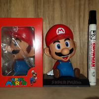 Mainan Action Figure Pajangan Mario Bross Bobble Head Kepala Goyang Co