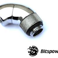 Bitspower G 1/4 Silver Dual Rotary Angle Fitting Watercooling Komputer