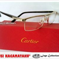Frame Kacamata Minus Cartier Elegant Full Frame