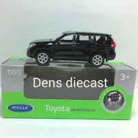 Miniatur mobil TOYOTA landcruiser prado hitam