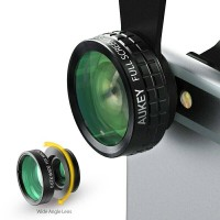 AUKEY 3in1 HP Camera Fish eye 180 Degree + Wide Angle + Macro Lensa