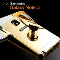 Case Samsung Galaxy Note 3 Aluminum Bumper Mirror Hard Back Case