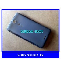 Silikon Case Sony Xperia TX LT29i Hitam Transparan