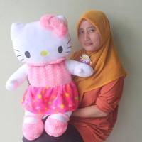 Boneka Hello Kitty Besar Rok Pink Uk.75cm SNI