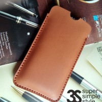 Leather Case Pouch BlackPhone BP1 ( Sarung Tempat HP 4.7 inch )