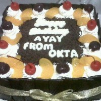 Black Forest Cake 1 - 20x20 cm (Tart Birthday Kue Ulang Tahun Jasmine)