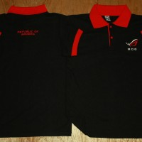Polo Shirt ROG, Republic Of Gamer Hitam Merah (PL-ROG004)