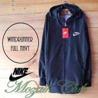 Jaket Parasut Nike Full Biru Dongker/Navy Windrunner Adidas Olahraga
