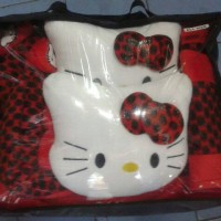 Sarung Jok 18 in 1 Universal Hello Kitty Merah Bintik Hitam