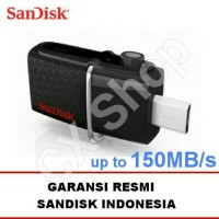 Jual SanDisk USB 3.0 Ultra Dual USB Drive OTG 32GB GARANSI RESMI Murah