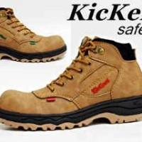 Sepatu Boots Pria Kickers wico Steel toe