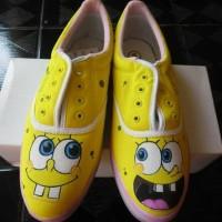 harga sepatu lukis spongebob Tokopedia.com