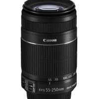 Promo!! New Lensa Tele Canon EFS 55-250 mm / 55-250mm IS II Garansi 1
