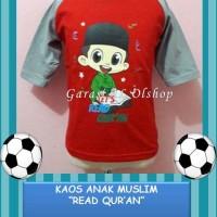 *Baju Muslim Anak Laki-laki Kaos Karakter Islami Read Qur'an 1-7th*