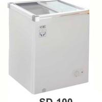 SD-100 SLIDING FLAT GLASS FREEZER / FREEZER KACA DATAR 100L
