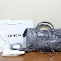 JUAL TAS BALENCIAGA GIANT CITY CLASSIC GREY MIRROR QUALITY