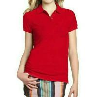 Kaos berkerah / Polo T-shirt polos - Wanita