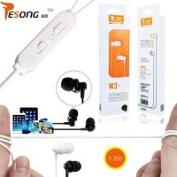 earphone / headset resong w3+ overweight bass by vivan (original)