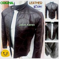 Jual Jaket kulit asli pria Garut | Jaket kulit coklat termurah JK-53 Murah