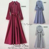 GROSIR BAJU HIJAB MAXY COAT FAMIDA DRESS R